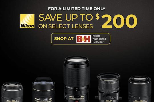 Ending this week: Nikon US lens-only rebates
