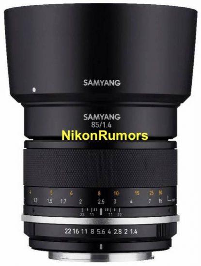 Samyang to announce two new manual focus full-frame lenses for Nikon F-mount: MF 14mm f/2.8 UMC II and MF 85mm f/1.4 UMC II