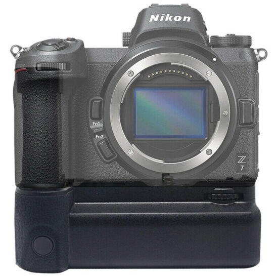 This third-party battery grip for Nikon Z6/Z7 cameras has a shutter button
