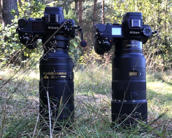 Three 70-200mm f/2.8 lenses compared on the Nikon Z7 (Nikkor F mount, Sigma Sport and Nikkor Z-mount)