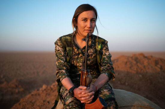 Portrait of a Kurdish YPJ fighter, Northeastern Syria late 2019 / Z6, 35mm, f2.0, ISO 200
