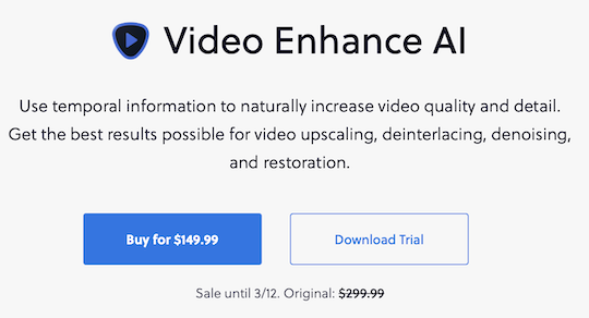 New Topaz Labs Video Enhance AI version 2.0.0 released