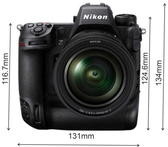 Nikon Z9 camera dimensions