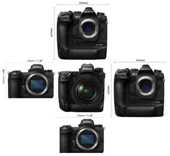 Nikon Z9 size comparisons by drororomon