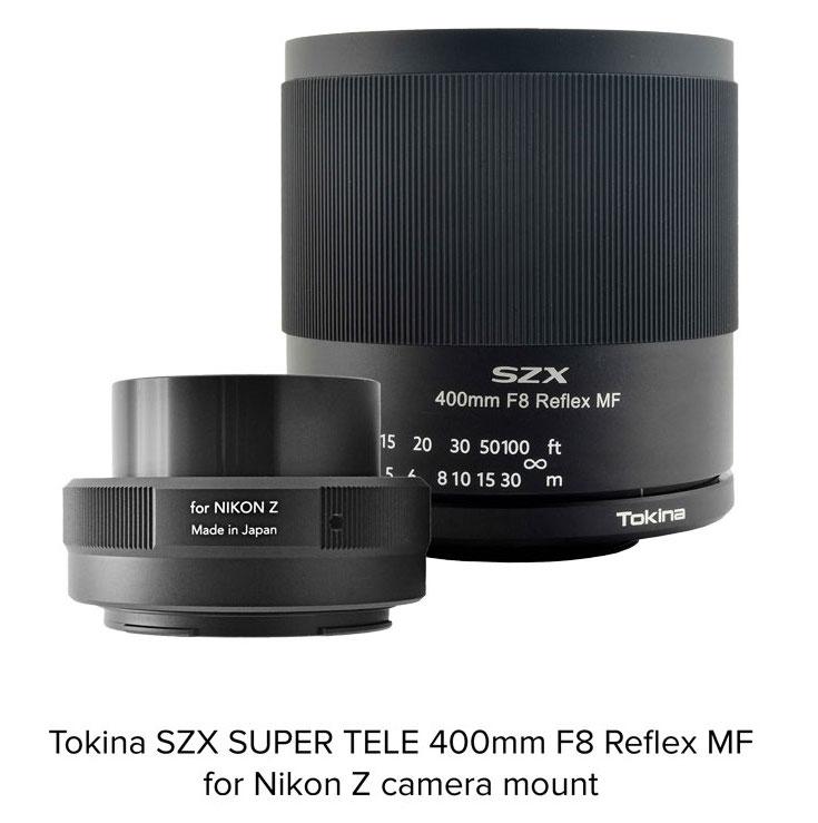 L'obiettivo reflex Tokina SZX 400mm f / 8 è ora compatibile anche con Nikon Z mount