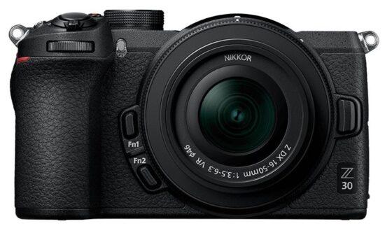 Nikon Z30 APS-C mirrorless camera mockup