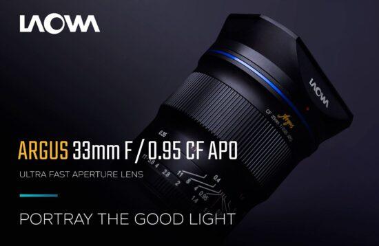 Announced: Venus Optics Laowa Argus 33mm f/0.95 CF APO APS-C lens for Nikon Z-mount
