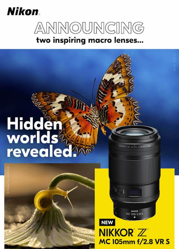 Come previsto: obiettivo macro Nikkor Z MC 105mm f/2,8 VR S in ritardo, Nikon si scusa
