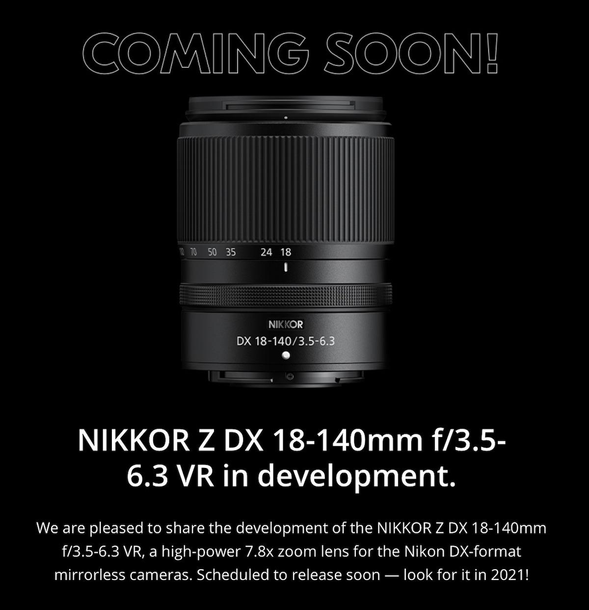 Il nuovo obiettivo Nikon NIKKOR Z DX 18-140mm f/3.5-6.3 VR
