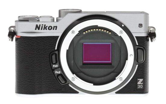 Nikon Z30 mirrorless camera mockup