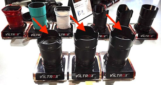 Upcoming Viltrox AF mirrorless lenses for Nikon Z-mount on display at the 2021 P&I show in Shanghai