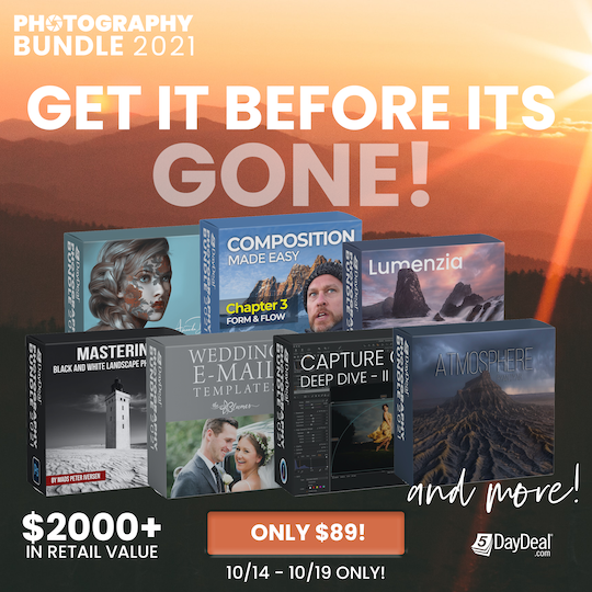 Ending tomorrow: the 2021 5DayDeal Photography Bundle
